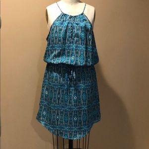 Blouson Keyhole Mini Dress